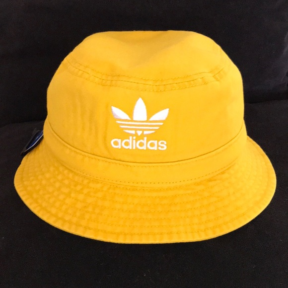 NWT Adidas Yellow Bucket Hat f100ca5073f